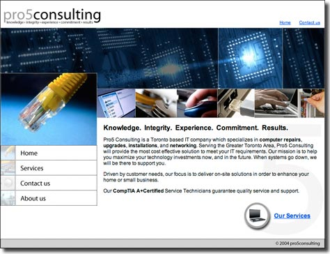 Pro5consulting Website Design